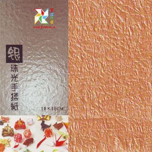 Shoyu Pearlescent Orange, 10cm square, 30 sheets, (KKY076)